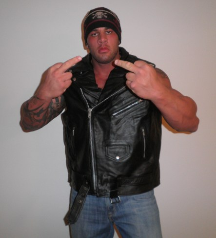 LEATHER BIKER MUSCLE STUD