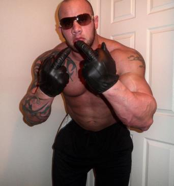 HUGE LEATHER GLOVES READY TO STRANGLE A SLAVE