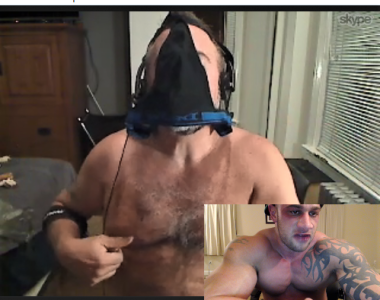 FAGGOT SNIFFING MY JOCK WHILE TWISTING ITS TITS